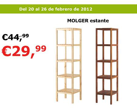 Oferta ikea estanter a molger por 30 euros la tienda sueca for Estanterias de bano ikea