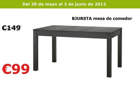 Oferta ikea mesa comedor bjursta for Ikea catalogo mesas comedor