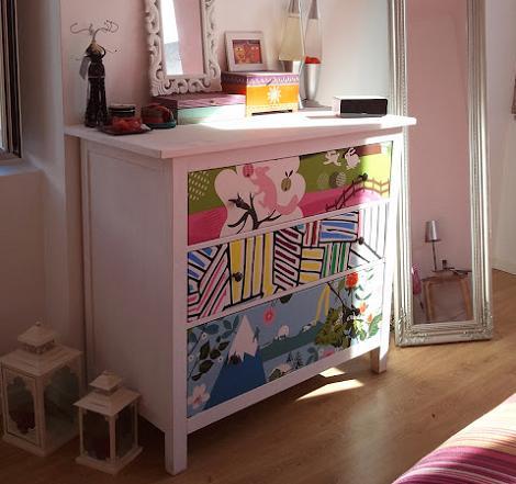 forrar un armario con telas ikea
