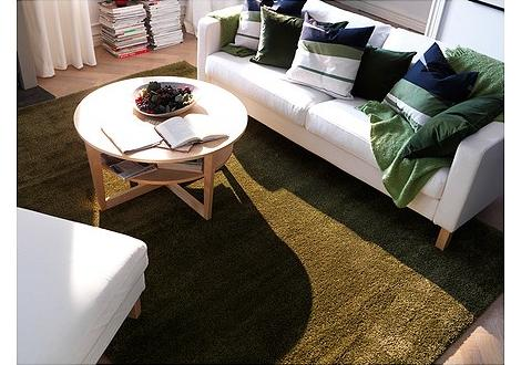 Oferta ikea alfombra de pelo largo for Alfombra verde ikea