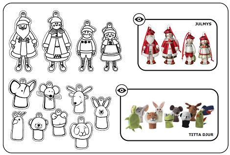 Recortables de Navidad Ikea