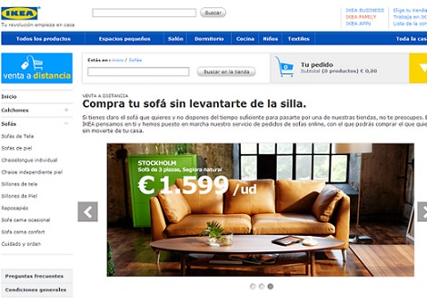 tienda online de ikea compra tu sof o colch n sin moverte de casa la tienda sueca. Black Bedroom Furniture Sets. Home Design Ideas