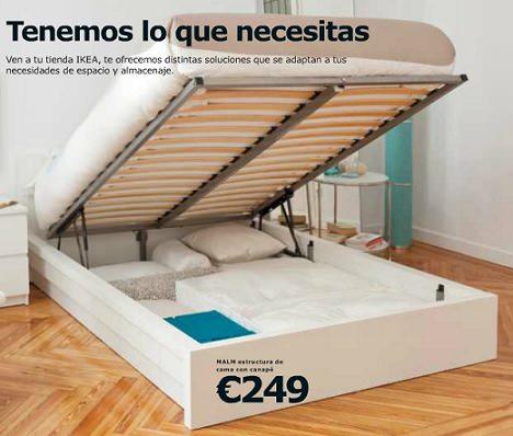 Decoracion mueble sofa somier con colchon for Estructura de cama alta ikea