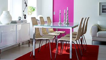 Mesa de comedor torsby con sillas linus for Sillas de comedor ikea