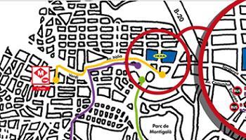 mapa bueses Badalona