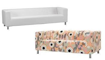 sofas klippan de 4 y 2 plazas