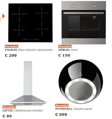 hornos y placas de induccion en ikea