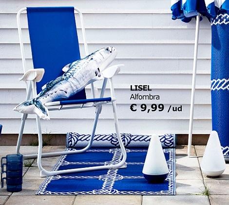 5 ideas de muebles de exterior y accesorios para tu for Ikea alfombra azul