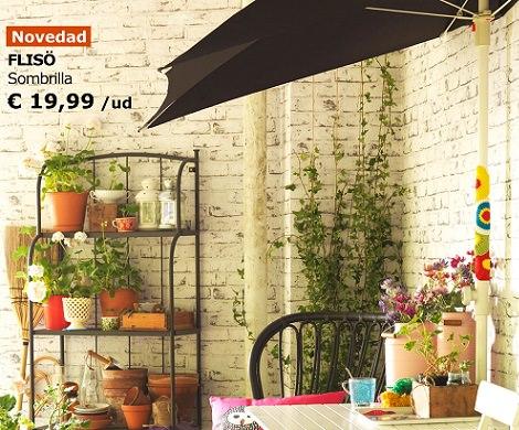 Las propuestas de ikea para decorar tu balc n verano 2014 - Sombrillas terraza ikea ...