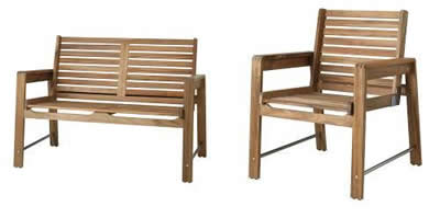 Las nuevas colecciones de muebles de exterior de ikea - Banco exterior ikea ...