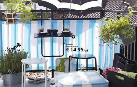 balc n preparado para el verano por menos de 85 euros decoraci n. Black Bedroom Furniture Sets. Home Design Ideas