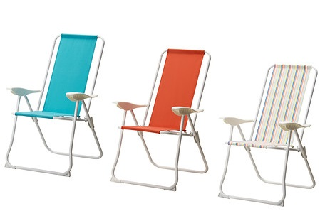 Equ pate con las sillas de playa de ikea - Sillas con reposabrazos ikea ...