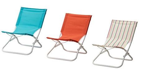Equ pate con las sillas de playa de ikea - Silla para la playa ...