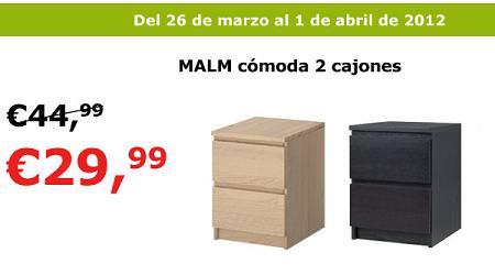 Oferta ikea c moda malm por 30 euros - Ikea mesilla malm ...