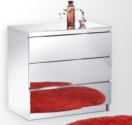 C moda malm efecto espejo - Comoda malm 3 cajones ...