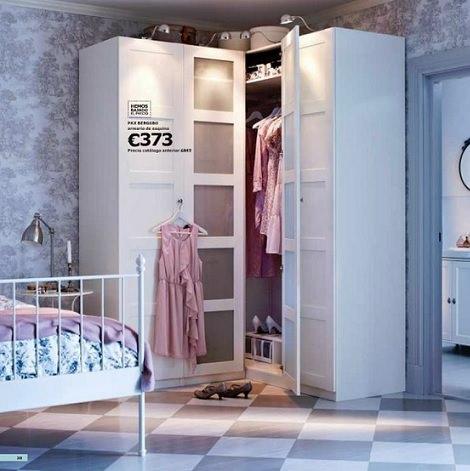 Aprovecha al m ximo el espacio con los armarios esquineros for Armarios roperos para habitaciones pequenas