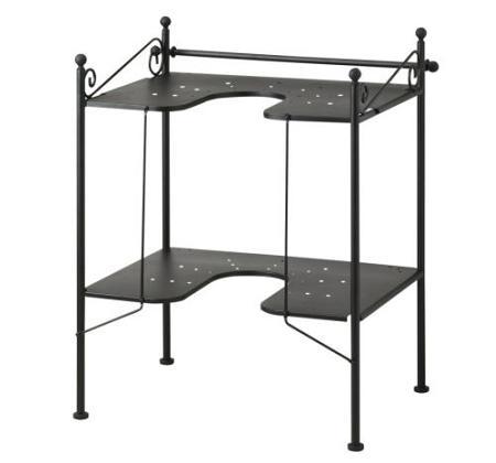 Otro Ejemplo De Bano Rustico De Ikea Con Muebles De Hierro Forjado