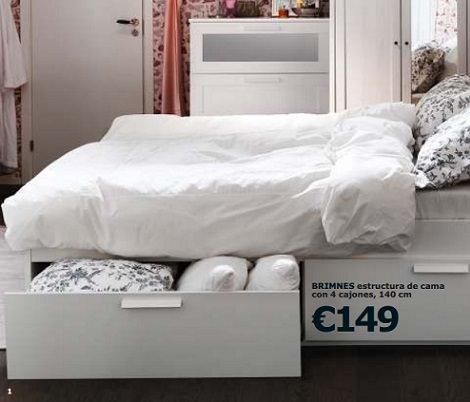 Cat logo de ikea 2015 nuevos dormitorios for Camas con cajones debajo