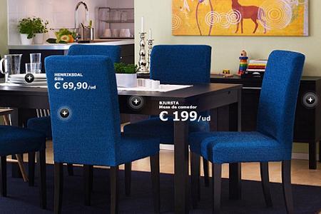 Comedor de Ikea, con mesa cuadrada de madera (extensible!!) y sillas ...