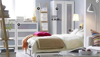 dormitorio de ikea completo por menos de 500 euros. Black Bedroom Furniture Sets. Home Design Ideas