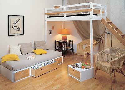 Ahorra espacio en tu habitaci n con una cama alta de ikea - Estructura cama cajones ...