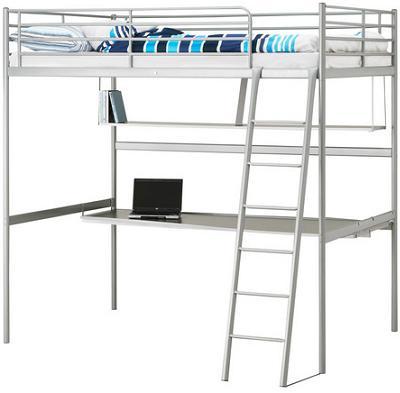 Ahorra espacio en tu habitaci n con una cama alta de ikea - Ikea cama alta ...