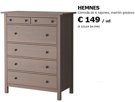 Ikea comoda modelo brimnes