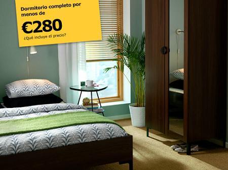 El dormitorio m s barato de ikea la tienda sueca for Dormitorios baratos ikea