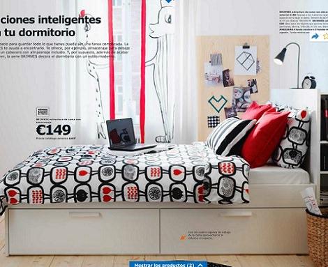Ideas de decoraci n habitaciones juveniles de ikea 2014 for Dormitorio estilo nordico ikea