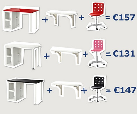 escritorios infantiles de ikea otoño 2013