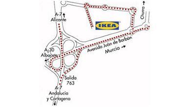 mapa Ikea Murcia