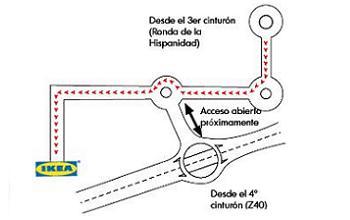 mapa Ikea Zaragoza