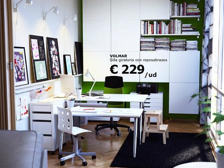 Oficina Ikea en casa