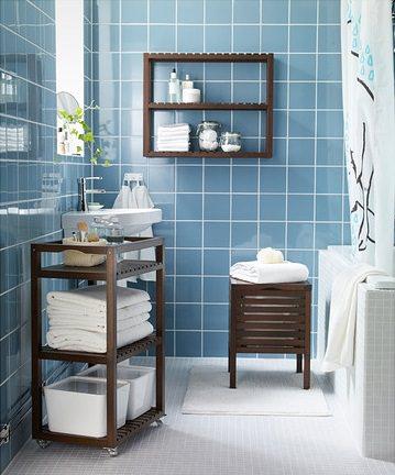 Muebles y accesorios pr cticos de ikea para aprovechar el for Colgar toallas ducha
