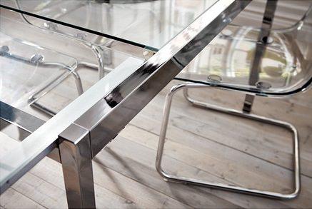 Mesas de cocina baratas de ikea redondas extensibles y de for Ikea mesa de cristal