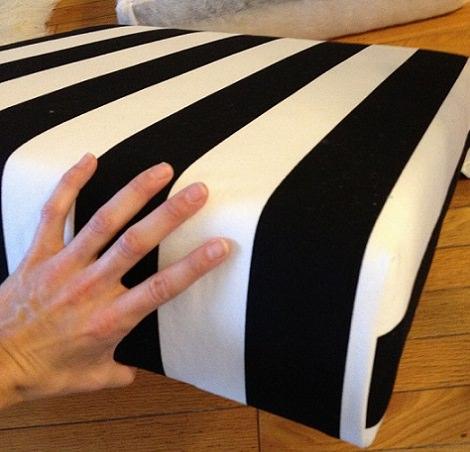 Diy de decoraci n como transformar la mesa lack de ikea en un puff la tienda sueca - Mesa lack ikea medidas ...