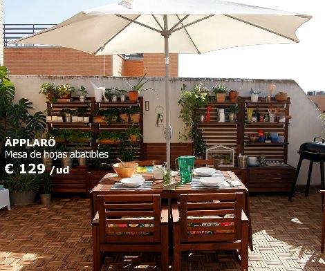 Nuevas tumbonas sillas y hamacas de ikea para el verano 2014 for Mesas y sillas de jardin baratas