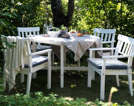 mesa y sillas de exterior de ikea 2014