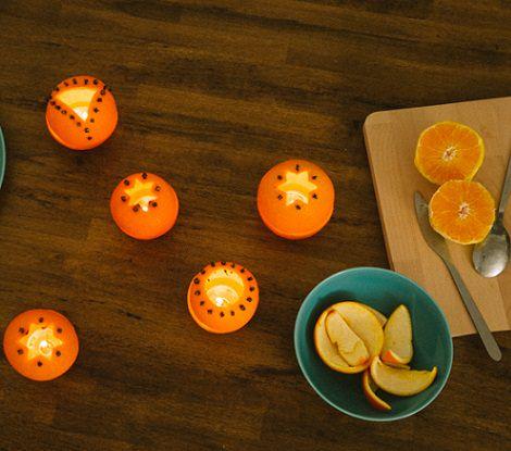 C mo hacer velas decorativas con naranjas for Como hacer velas decorativas