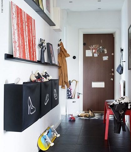Ideas para decorar un recibidor con ikea for Garderobe como