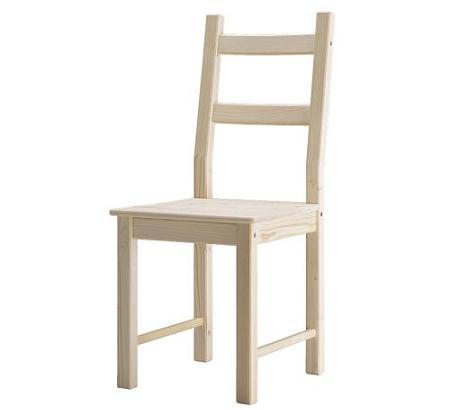 Las sillas m s baratas de ikea for Sillas de madera ikea