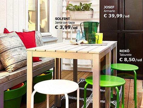Las propuestas de ikea para decorar tu balc n verano 2014 - Mesas exterior ikea ...