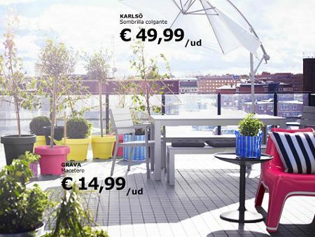 Decorar la terraza con ikea for Ikea muebles de jardin 2016