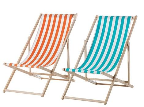 Equ pate con las sillas de playa de ikea for Sillas naranjas baratas